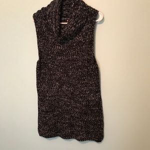 Cowlneck Sleeveless Sweater Tunic